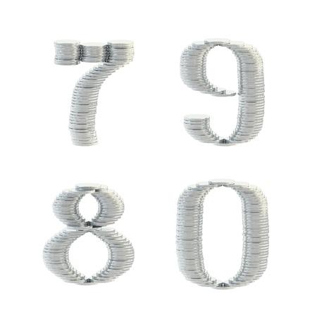 ABC alphabet symbols made of coins photo