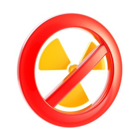 Nuclear power and radiation forbidden Stock Photo - 13243452