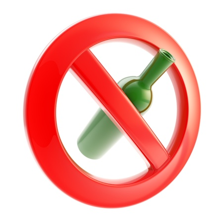 warning icon: Drinking is not allowed forbidden sign