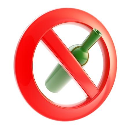 interdiction: Potable n'est pas permise signe interdit Banque d'images