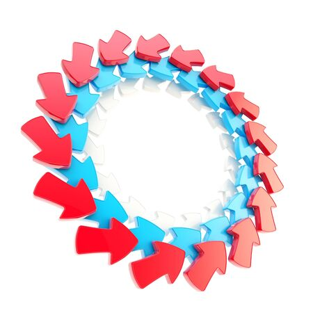 Circular frame made of arrows isolated photo