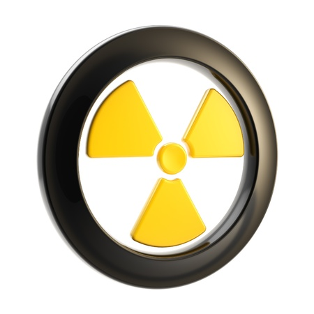 Nuclear power radiation sign isolated Stock Photo - 13243394
