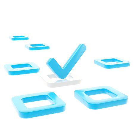todo: To do list, tick in check box isolated