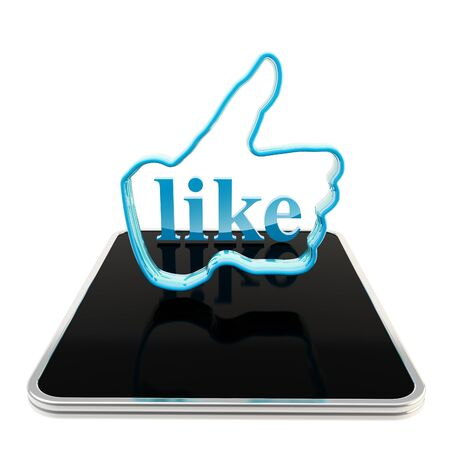 Mobile pad computer with like button