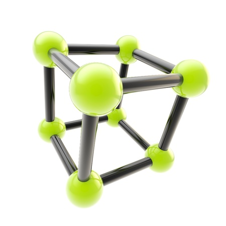 Chemistry and science symbol isolated photo