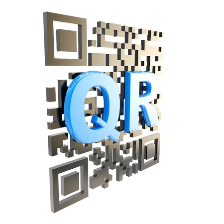 up code: QR code technology illustration isolated Stock Photo