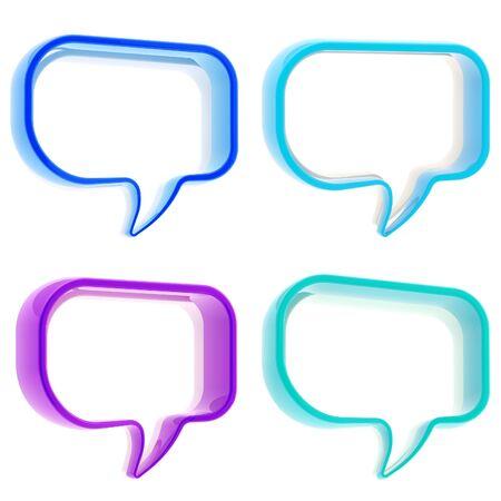 copyspace: Set of four text bubbles Stock Photo