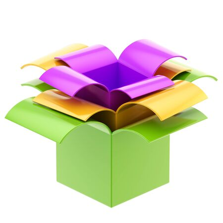 Three colorful gift boxes isolated photo