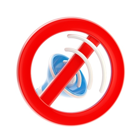 No music or sound mute sign isolated Stock Photo - 13279079