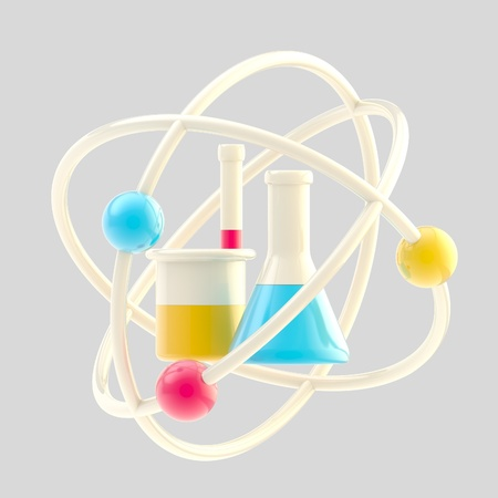 Science and research glossy icon isolated photo