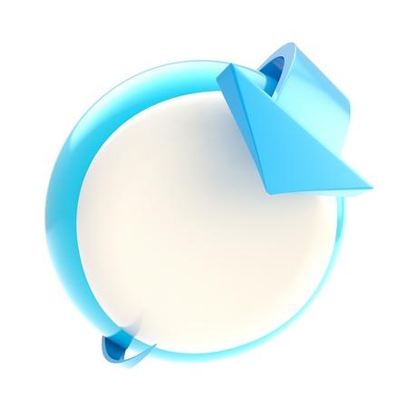 bend: Bend arrow point to circular button