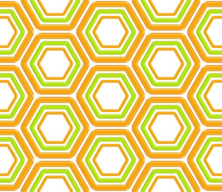 Seamless abstract texture made of hexagons photo
