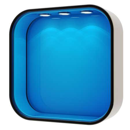 window case: Shop window copyspace showcase isolated Stock Photo