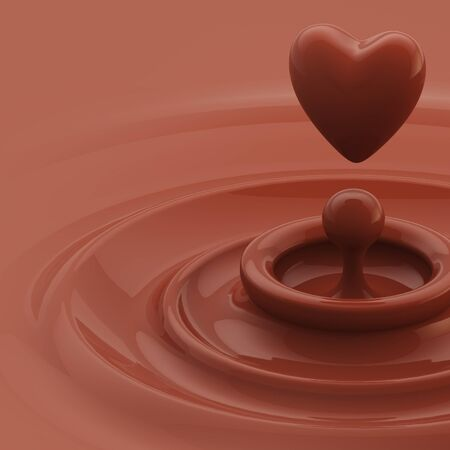 Background as a chocolate heart like drop photo