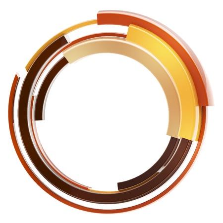 Abstract techno circular frame border isolated photo