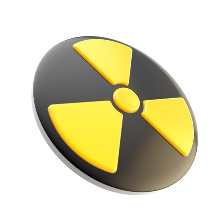 Nuclear power radiation sign isolated Stock Photo - 13362645