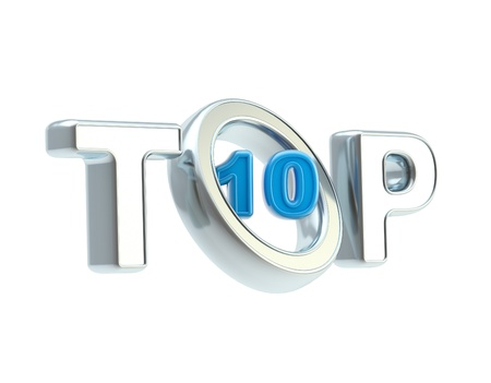 better icon: Top ten emblem symbol isolated on white