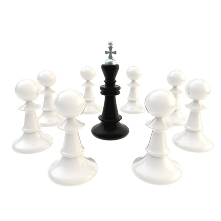 deadlock: Deadlock black king surrounded with pawns Stock Photo