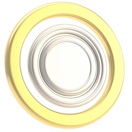 Round copyspase circular plate isolated photo