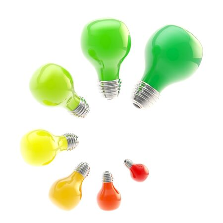 Energy efficiency levels as bulbs photo