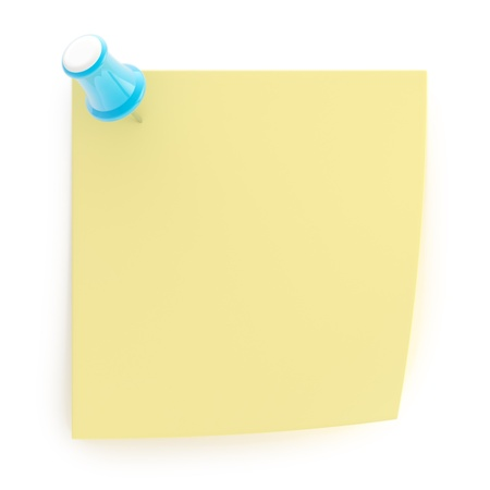 Copyspace note sticked with pushpin Stock Photo - 13396693
