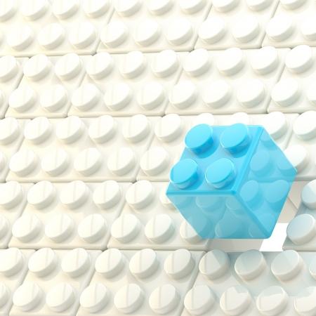 Background made of toy construction brick blocks