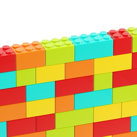 Background wall made of toy blocks Stock Photo - 13396770