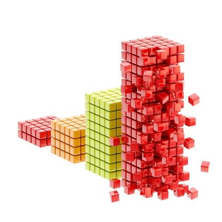 derrumbe: Collapse ruinas gráfico de barras aisladas