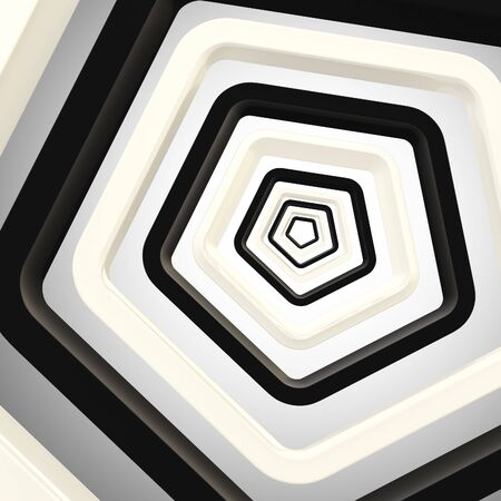 Abstract background made of pentagons photo