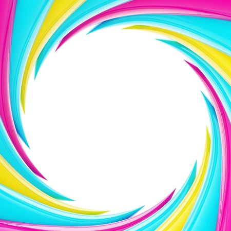 Circular abstract frame made of wavy elements Stock Photo - 13396815