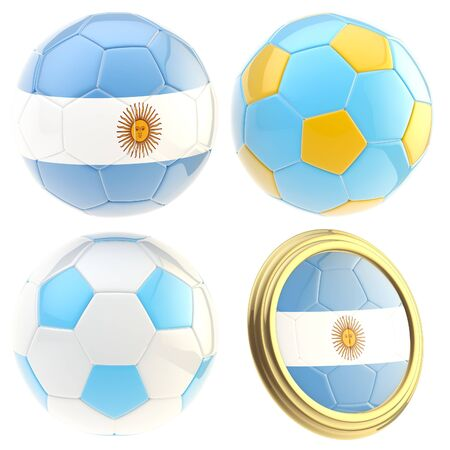 attributes: Argentina football team attributes isolated