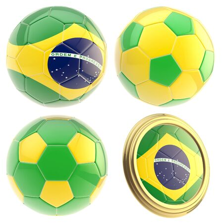 attributes: Brazil football team attributes isolated Stock Photo