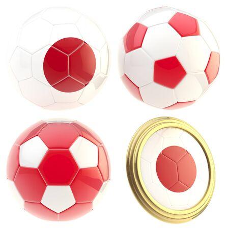 attributes: Japan football team attributes isolated