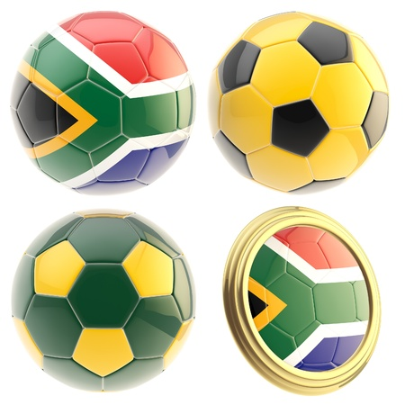 attributes: South Africa football team attributes isolated Stock Photo