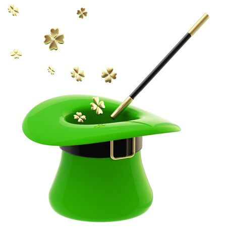 St  Patrick hat with magic wand inside photo