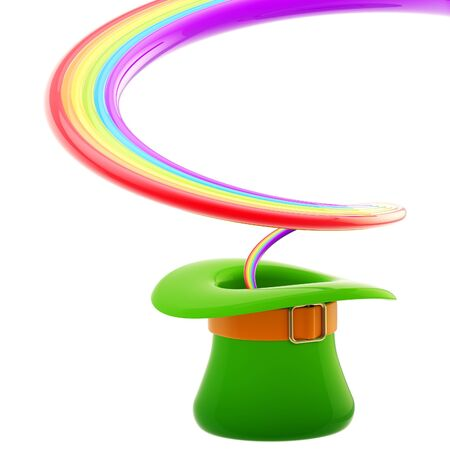 St  Patrick hat with rainbow inside Stock Photo - 13485178