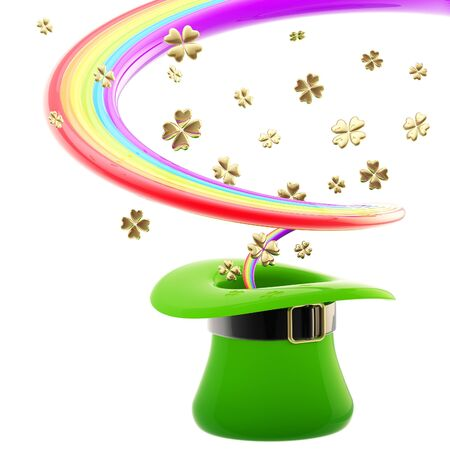 St  Patrick hat with rainbow inside Stock Photo - 13485245