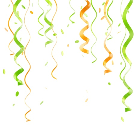 St  Patrick background made of ribbons Stock Photo - 13485077
