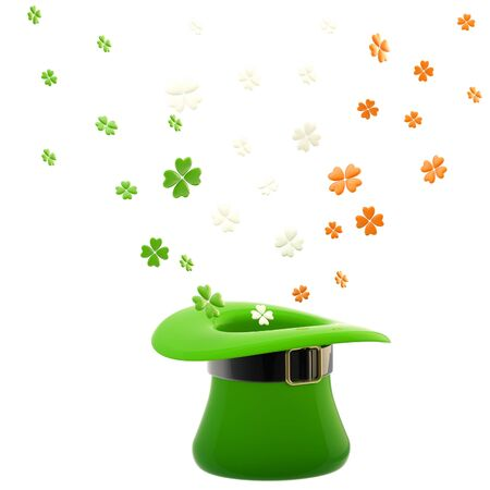 St  Patrick hat with clover leaves Stock Photo - 13484993