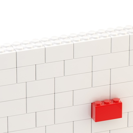 Background wall made of toy blocks photo