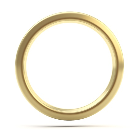 Golden ring copyspace torus isolated photo