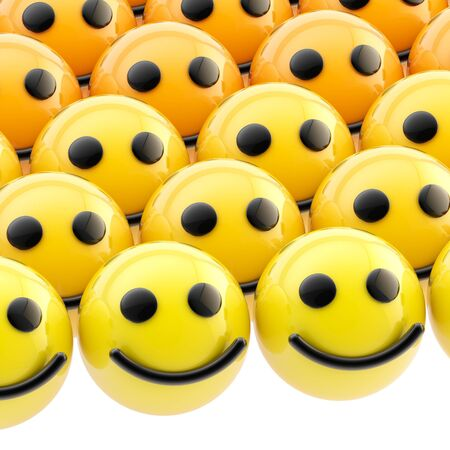 Shiny smiley face background photo