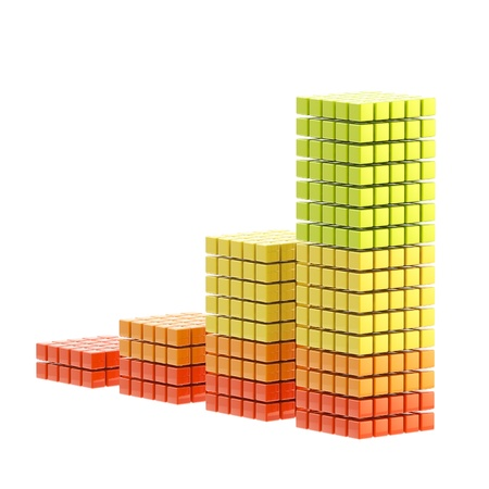 green economy: Growth bar graph isolated Stock Photo