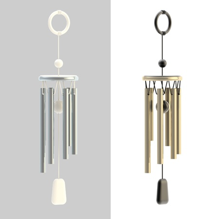 feng shui: Feng Shui wind chime isolated
