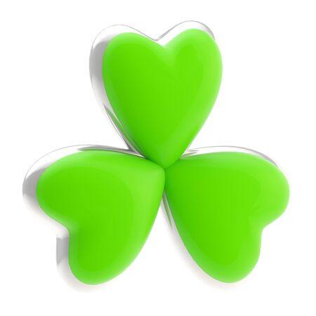 Symbolic clover leaf symbol isolated Stock Photo - 13485002