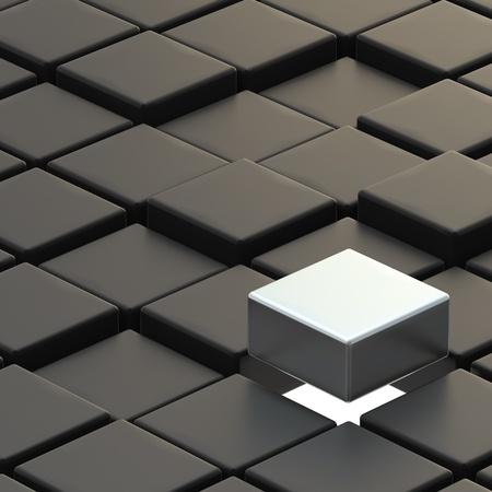 black block: Resumen de antecedentes de hecho de los cubos de la espalda y plata pendientes una Foto de archivo