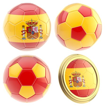 attributes: Spain football team attributes isolated Stock Photo