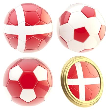attributes: Denmark football team attributes isolated Stock Photo