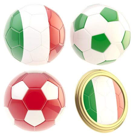 attributes: Italy football team attributes isolated