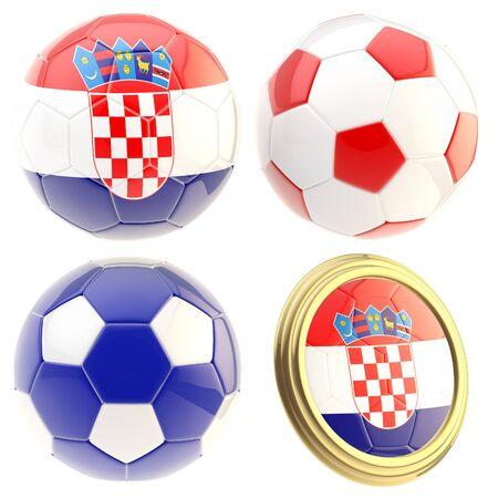 the attributes: Croatia football team attributes isolated Stock Photo